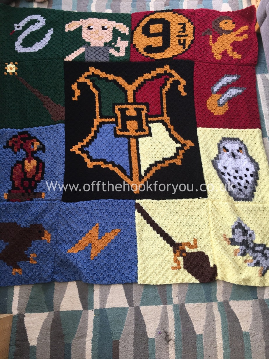harry potter crochet blanket. Black Bedroom Furniture Sets. Home Design Ideas