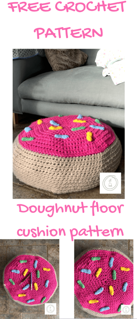 crochet doughnut floor cushion