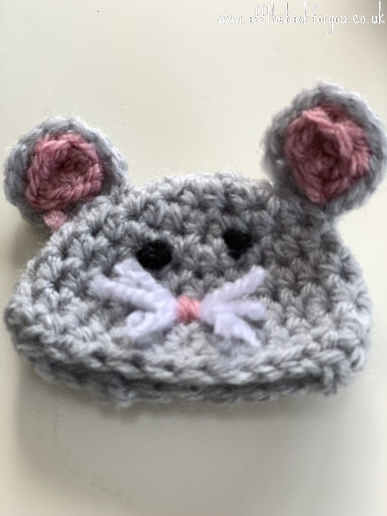 Mouse crochet hat