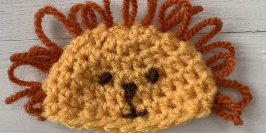 Lion crochet hat