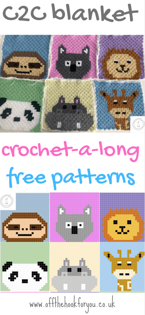 c2c baby blanket, crochet animals, cross stitch charts.  Free crochet patterns
