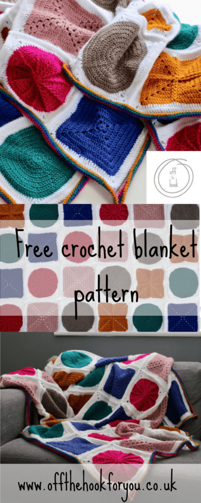 Beginners crochet blanket designed to expand your skills.
