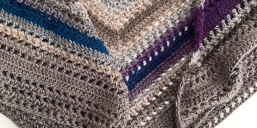 Borlotto bean shawl, free crochet pattern cygnet boho, www.offthehookforyou.co.uk