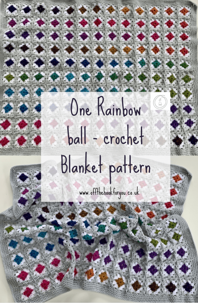 rainbow blanket - free crochet pattern www.offthehookforyou.co.uk - with video tutorial for joining.