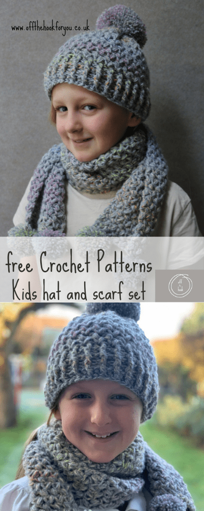 Free Crochet hat and scarf pattern set